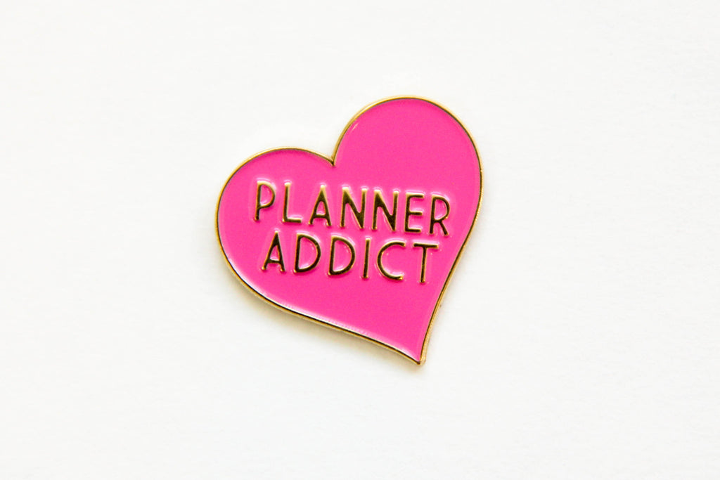 Planner Addict Enamel Pin - Oh, Hello Stationery Co. bullet journal Erin Condren stickers scrapbook planner case customized gifts mugs Travlers Notebook unique fun
