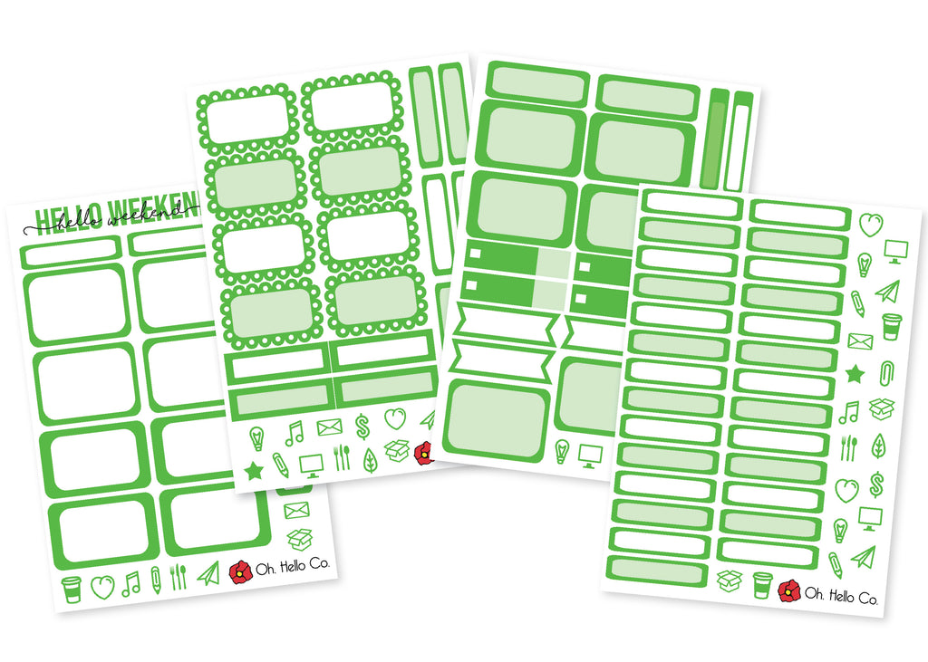 The Lime Greens - Rainbow Functional Stickers