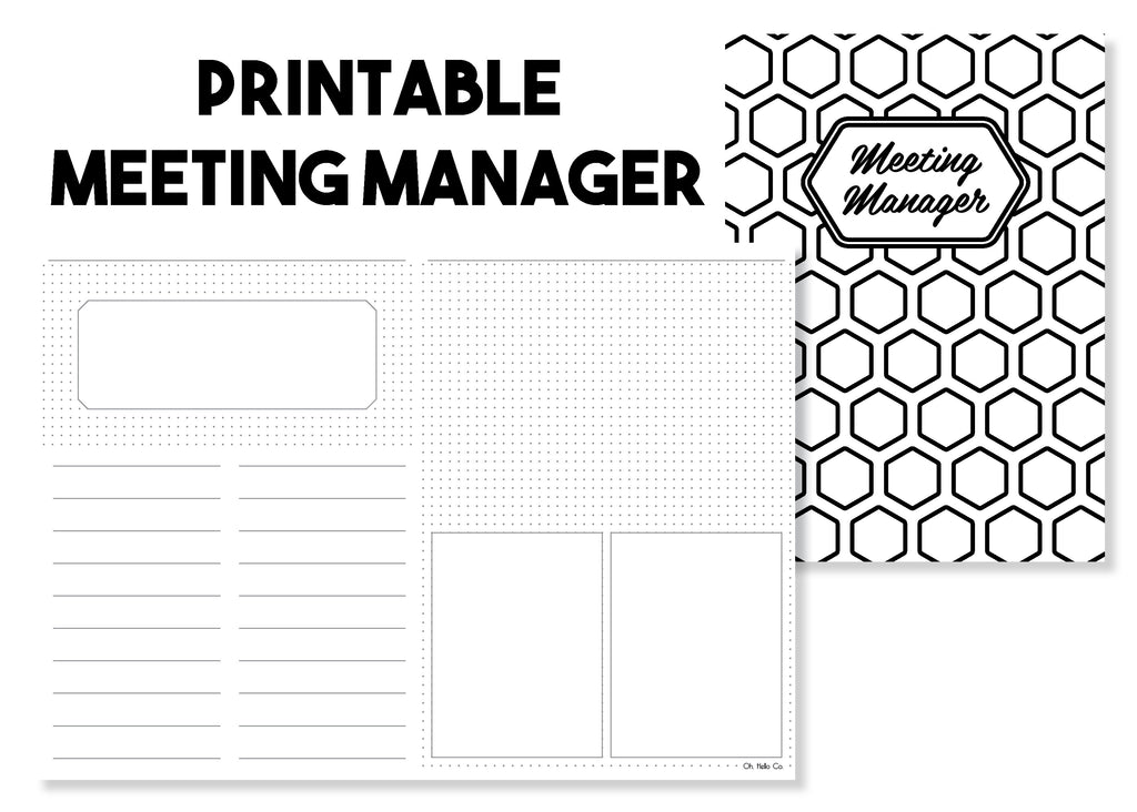 Printable Meeting Manager Traveler's Notebook Insert