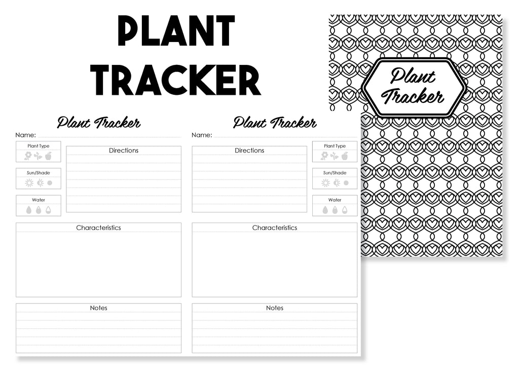 Plant Tracker Traveler's Notebook Insert - Oh, Hello Stationery Co. bullet journal Erin Condren stickers scrapbook planner case customized gifts mugs Travlers Notebook unique fun