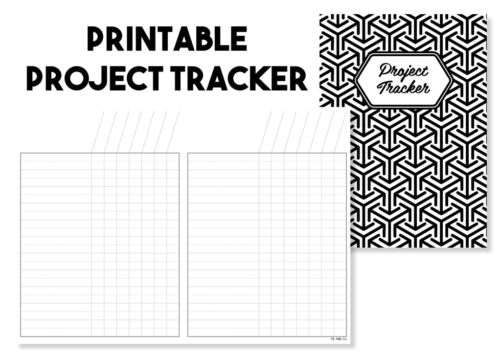 Printable Project Tracker Traveler's Notebook Insert - Oh, Hello Stationery Co. bullet journal Erin Condren stickers scrapbook planner case customized gifts mugs Travlers Notebook unique fun