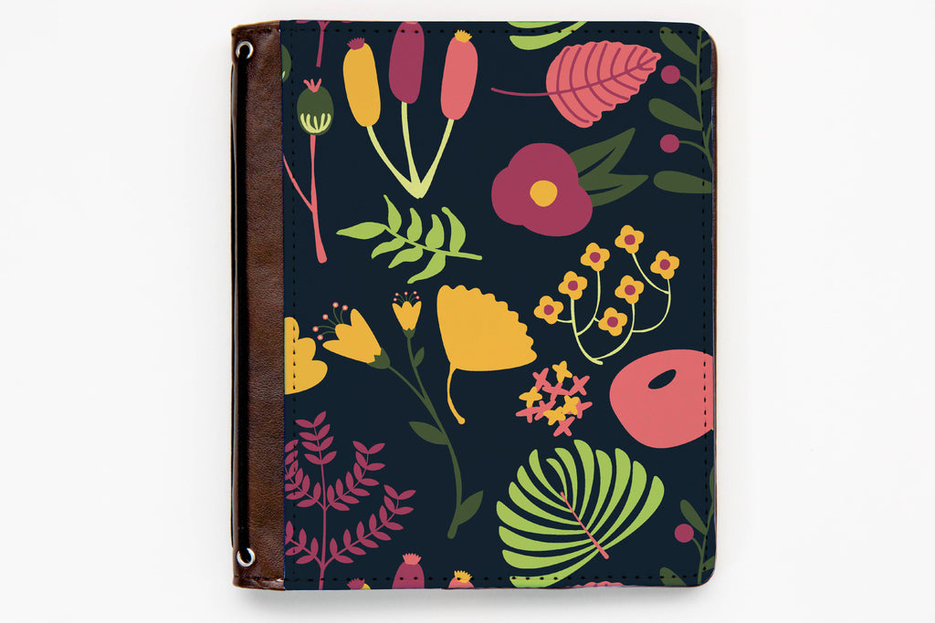 Customizable Traveler's Notebook Cover - Whimsical Floral - Oh, Hello Stationery Co. bullet journal Erin Condren stickers scrapbook planner case customized gifts mugs Travlers Notebook unique fun