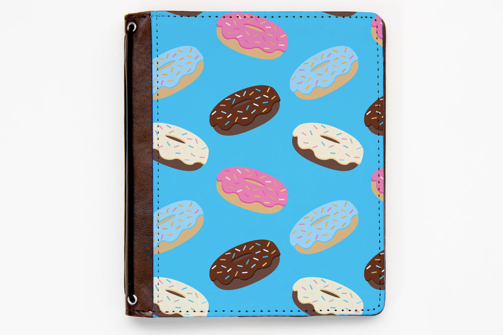Customizable Traveler's Notebook Cover - Falling Donuts - BR76 - Oh, Hello Stationery Co. bullet journal Erin Condren stickers scrapbook planner case customized gifts mugs Travlers Notebook unique fun