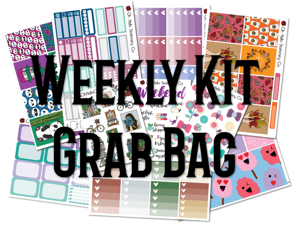 Weekly Kit Grab Bag - Oh, Hello Stationery Co. bullet journal Erin Condren stickers scrapbook planner case customized gifts mugs Travlers Notebook unique fun