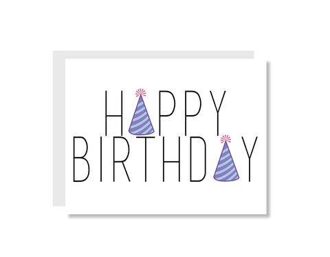 Happy Birthday Party Hats Greeting Card - Oh, Hello Stationery Co.   - 1