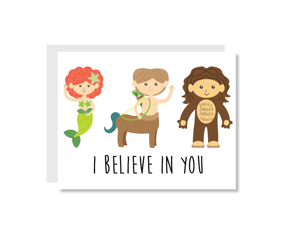 I Believe in You Greeting Card - CARD22 - Oh, Hello Stationery Co. bullet journal Erin Condren stickers scrapbook planner case customized gifts mugs Travlers Notebook unique fun