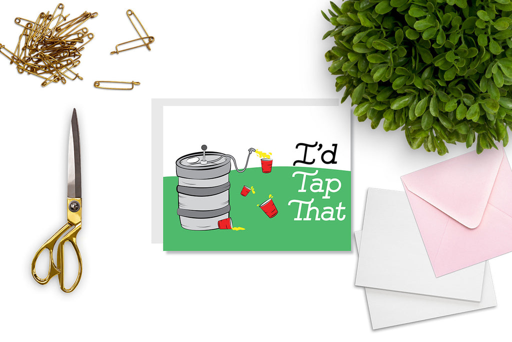 I'd Tap That Greeting Card - CARD36 - Oh, Hello Stationery Co. bullet journal Erin Condren stickers scrapbook planner case customized gifts mugs Travlers Notebook unique fun