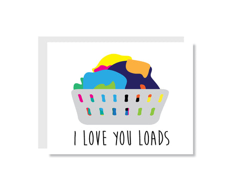 I Love You Loads Greeting Card - Oh, Hello Stationery Co.   - 1