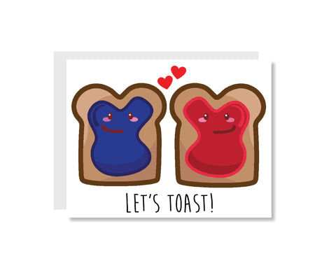 Let's Toast Greeting Card - Oh, Hello Stationery Co.   - 1