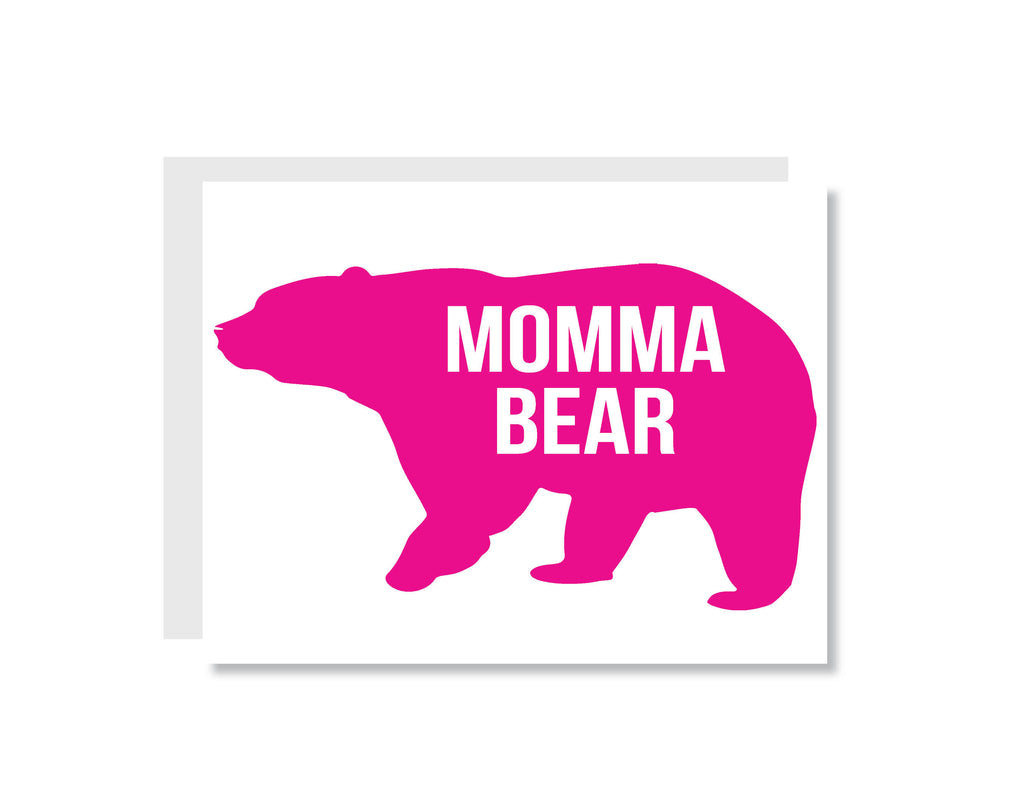 Momma Bear Greeting Card - CARD54 - Oh, Hello Stationery Co. bullet journal Erin Condren stickers scrapbook planner case customized gifts mugs Travlers Notebook unique fun
