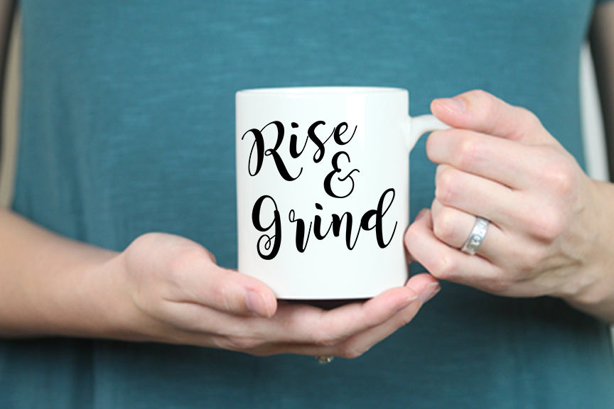 Rise & Grind Mug - Oh, Hello Stationery Co. bullet journal Erin Condren stickers scrapbook planner case customized gifts mugs Travlers Notebook unique fun