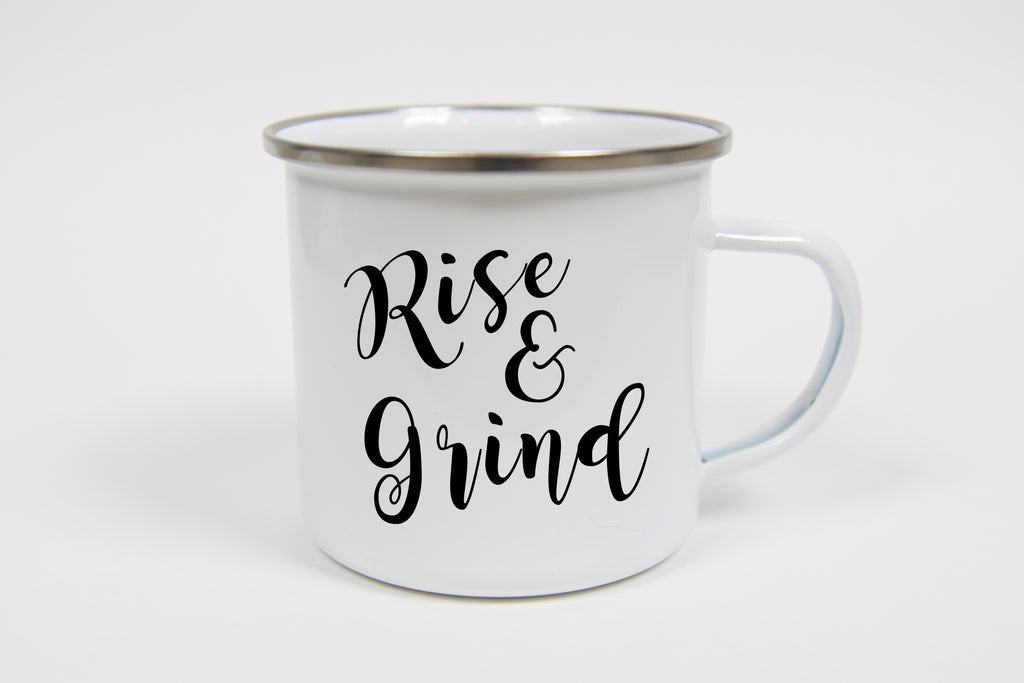 Rise & Grind Campfire Mug - Oh, Hello Stationery Co. bullet journal Erin Condren stickers scrapbook planner case customized gifts mugs Travlers Notebook unique fun