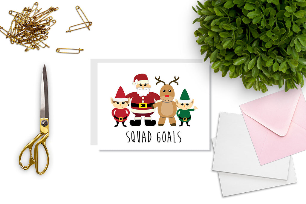 Squad Goals Christmas Greeting Card - CARD69 - Oh, Hello Stationery Co. bullet journal Erin Condren stickers scrapbook planner case customized gifts mugs Travlers Notebook unique fun