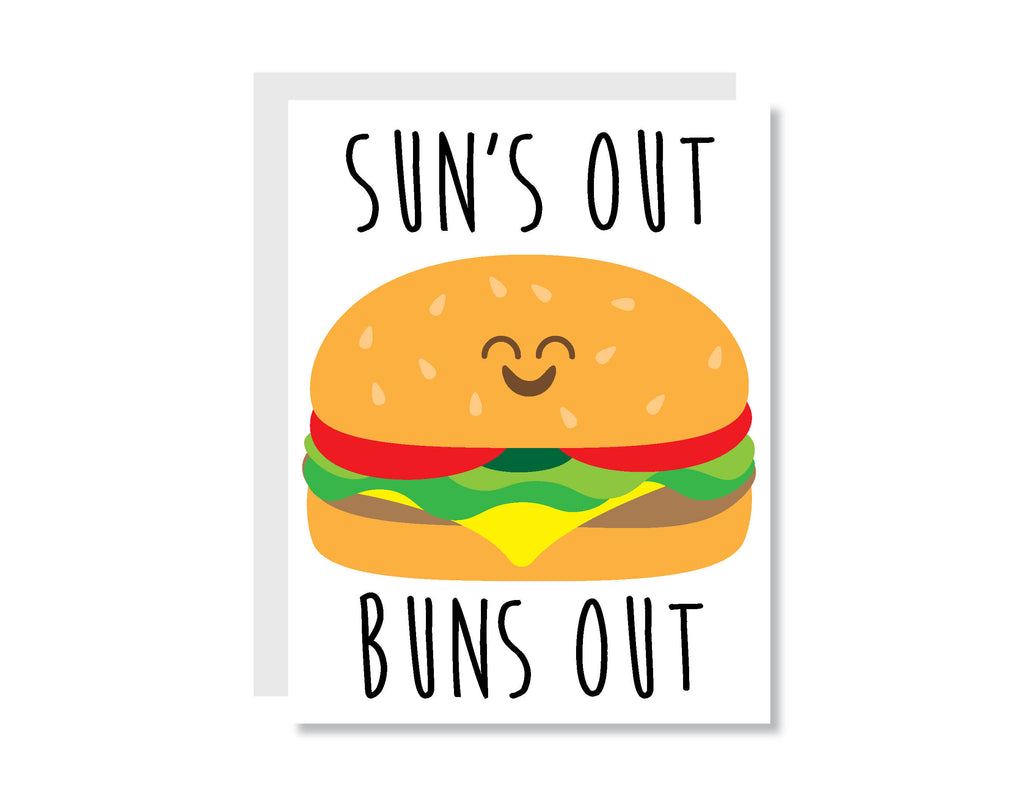 Sun's Out Buns Out Greeting Card - CARD71 - Oh, Hello Stationery Co. bullet journal Erin Condren stickers scrapbook planner case customized gifts mugs Travlers Notebook unique fun