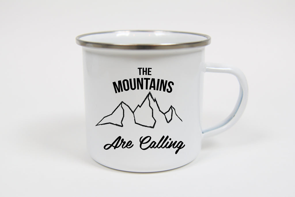 The Mountains are Calling Campfire Mug - Oh, Hello Stationery Co. bullet journal Erin Condren stickers scrapbook planner case customized gifts mugs Travlers Notebook unique fun