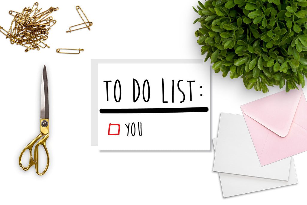 To Do List Greeting Card - CARD81 - Oh, Hello Stationery Co. bullet journal Erin Condren stickers scrapbook planner case customized gifts mugs Travlers Notebook unique fun