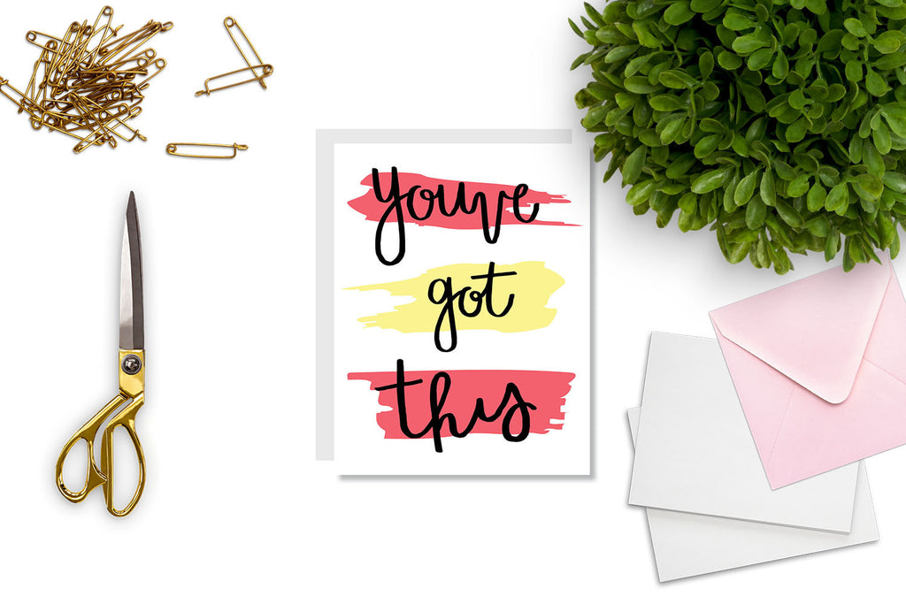 You've Got This Greeting Card - CARD108 - Oh, Hello Stationery Co. bullet journal Erin Condren stickers scrapbook planner case customized gifts mugs Travlers Notebook unique fun