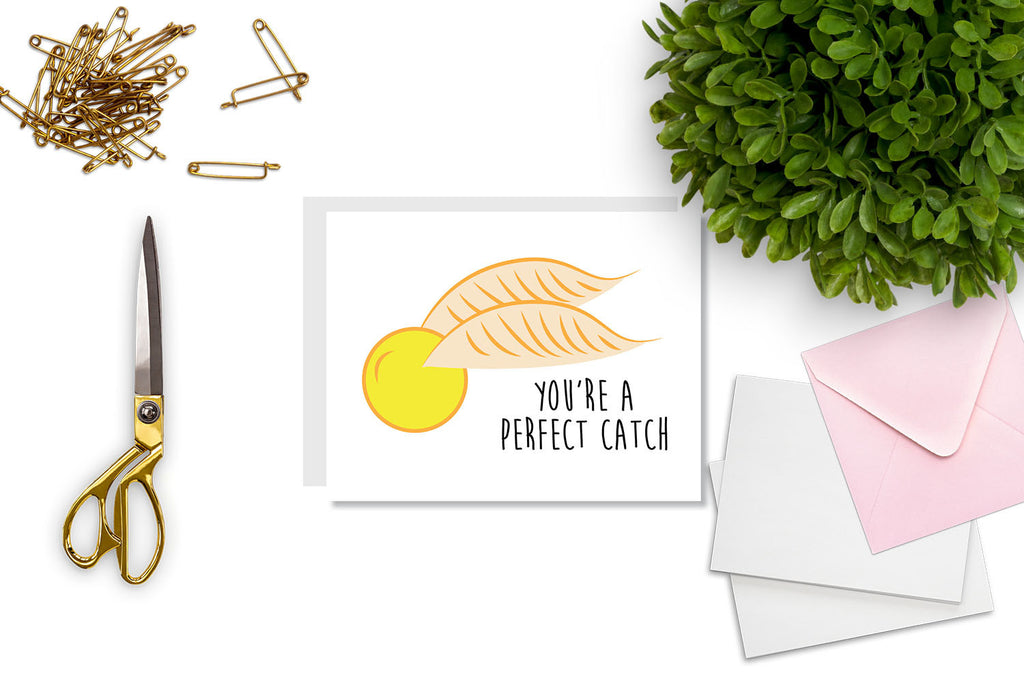 You're a Perfect Catch Greeting Card - CARD62 - Oh, Hello Stationery Co. bullet journal Erin Condren stickers scrapbook planner case customized gifts mugs Travlers Notebook unique fun