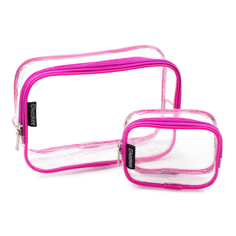 Clear TSA Travel Toiletry Bag Set - Large + Small - Keokee Travel Gear