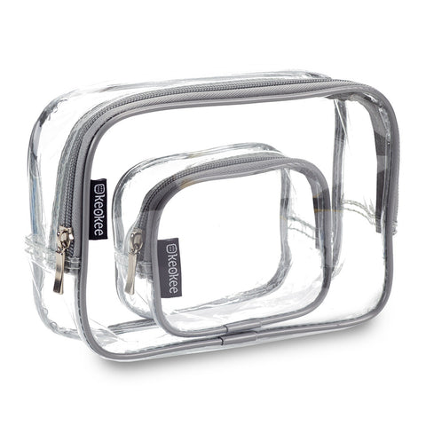 Clear Toiletry Bag Set - large + small