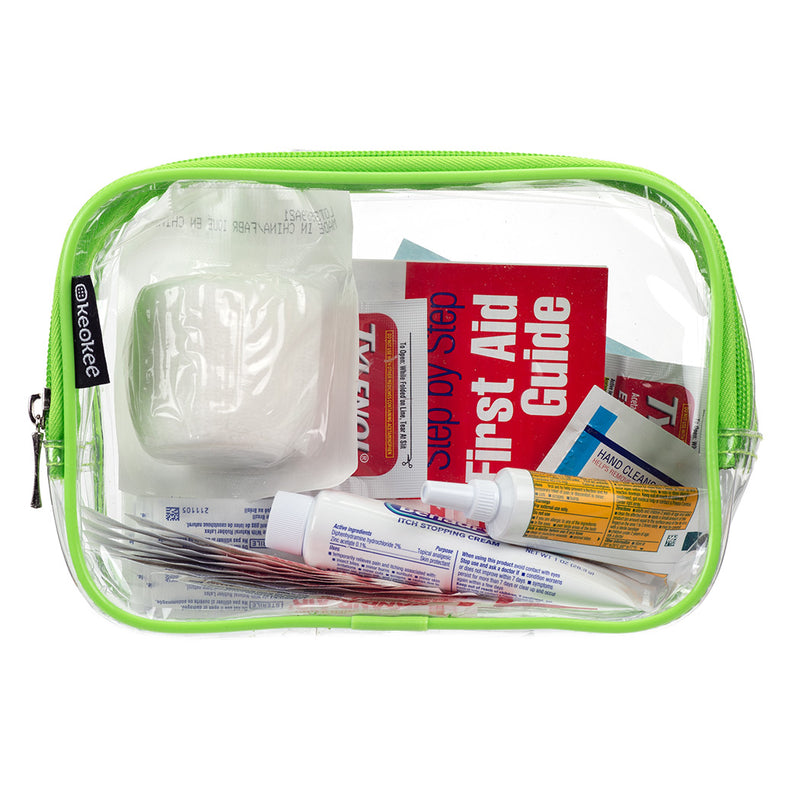2 Multi-purpose Clear Toiletry and Cosmetics Bags
