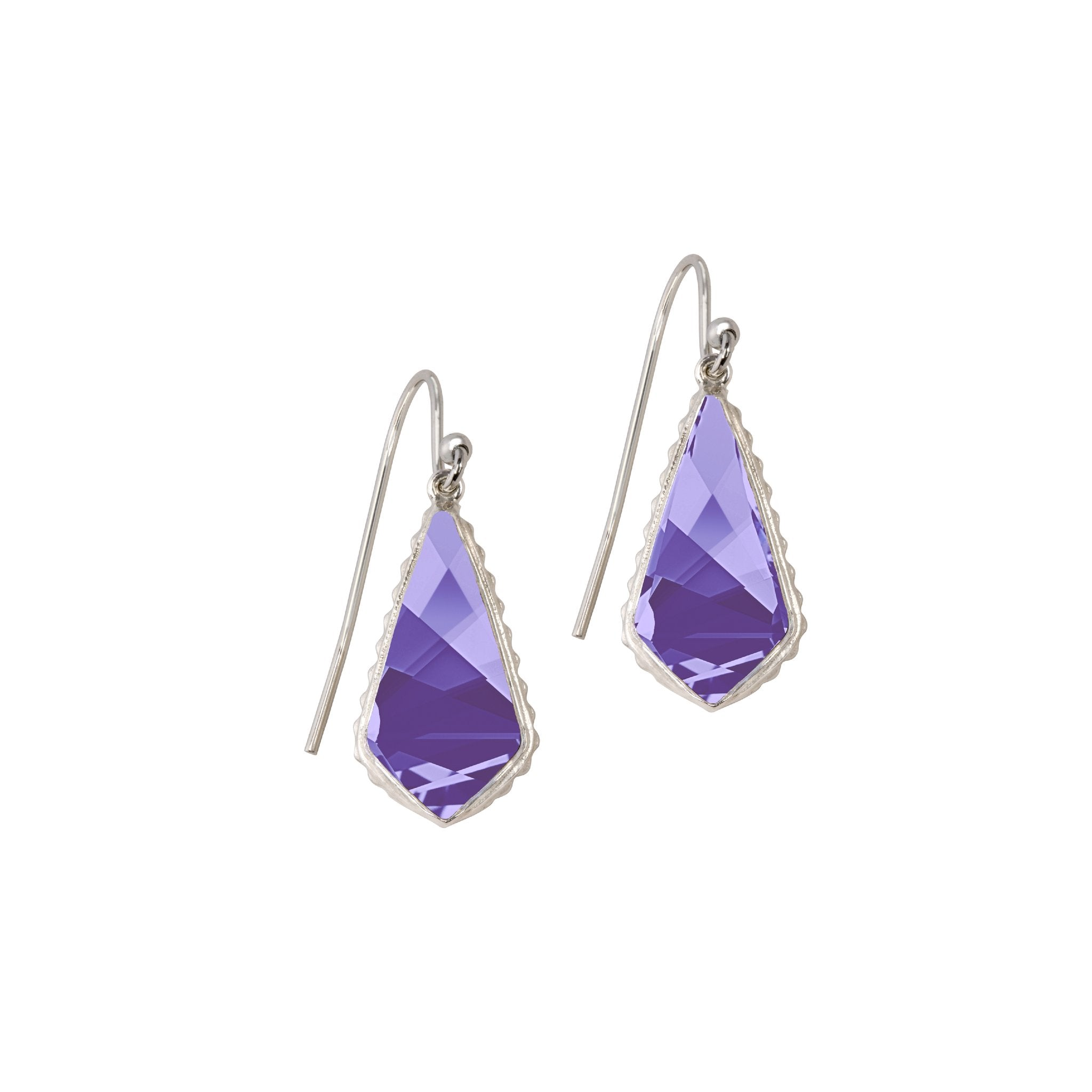 Luca + Danni Sterling Silver Sloane Earrings In Tanzanite