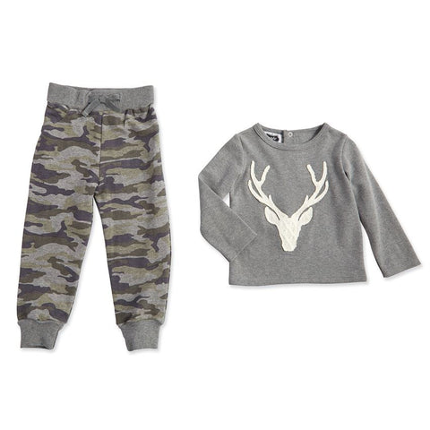 Camo Stag Two-Piece Set