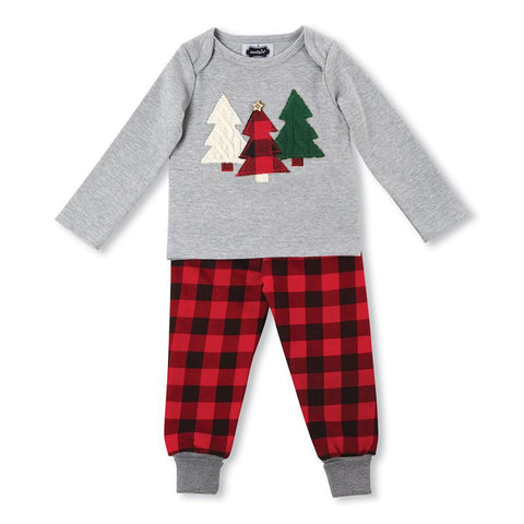 Mud Pie Alpine Multi-Tree Two-Piece Set