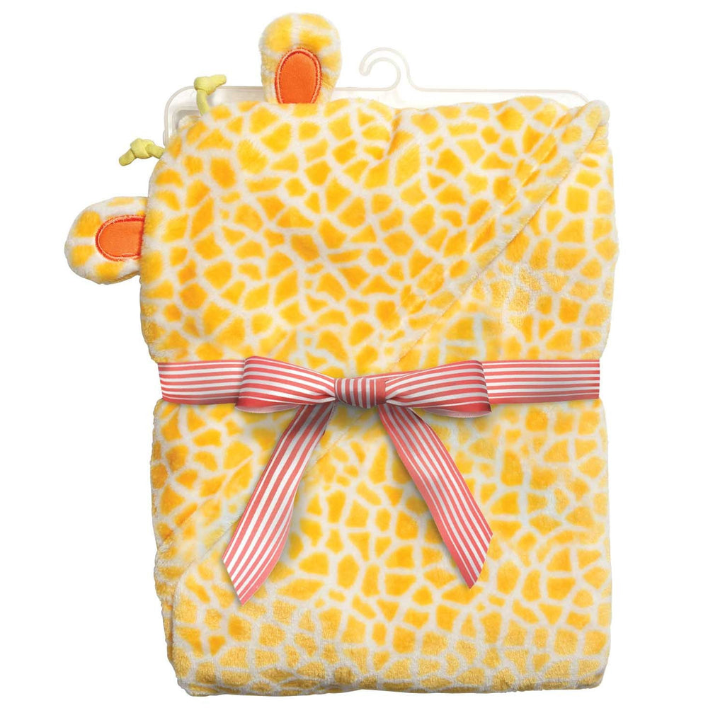 "Baby Dumpling™ ""Little Fair"" Hooded Plush Blanket - Giraffe"