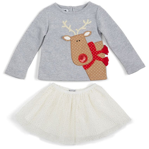 Reindeer Skirt Set