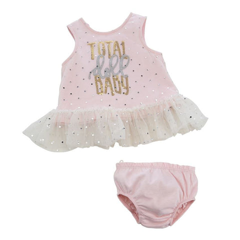 Doll Baby Dress & Bloomer Set