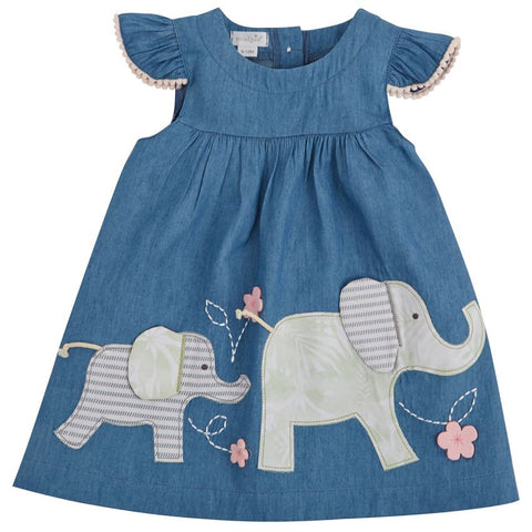 Elephant Chambray Dress Toddler
