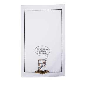 "Toasted S'mores ""Is It Warm In Here Tea Towel"