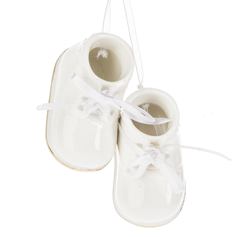 Personalizable Baby Booties Ornament