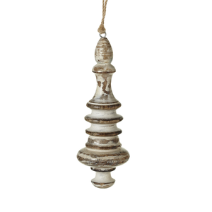 Wood Finial Ornament