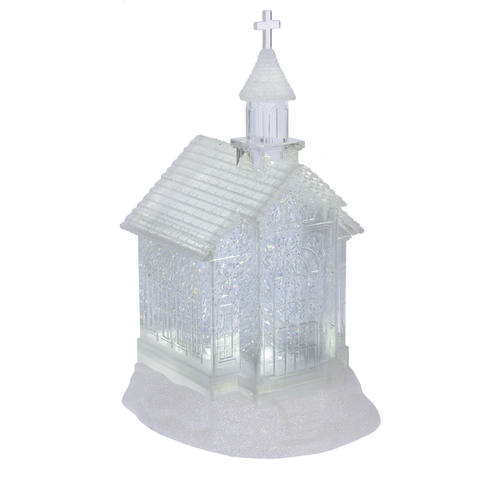 Lighted LED Shimmer Church