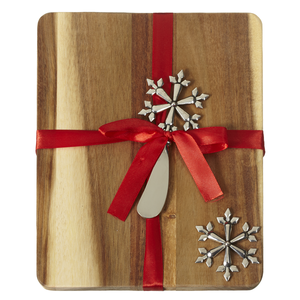 Snowflake Wooden Cheese Board