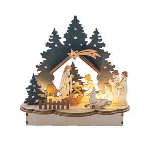 Plywood LED Nativity Scene