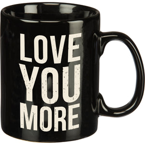 Love You More Box Sign Mug
