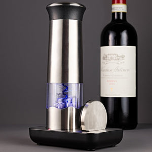 Electric Blue Automatic Wine Opener 3-Piece Set