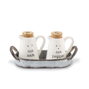 Not Salt & Pepper Caddy Set
