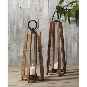 Open-Air Wooden Lanterns