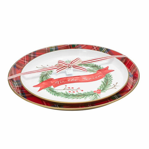 Brass and Enamel Tartan Trays