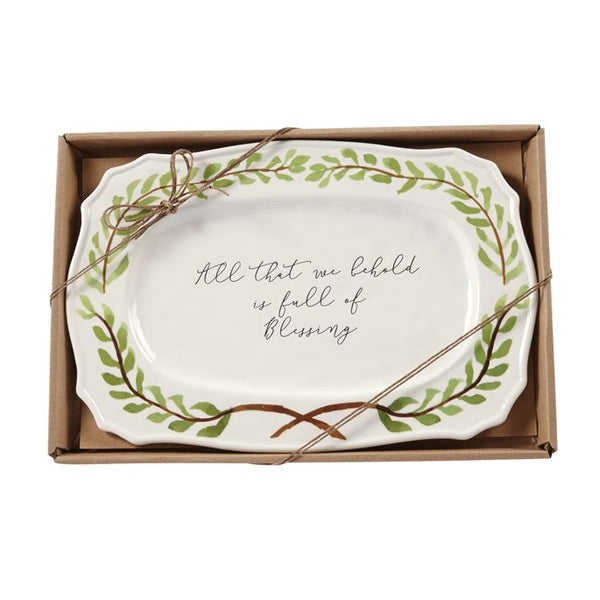 Blessings Garland Platter