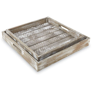 Barn Wood Tray Set