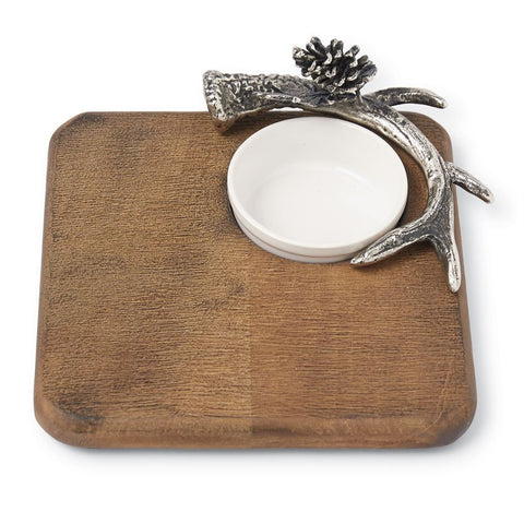 Antler Bar Board & Ramekin