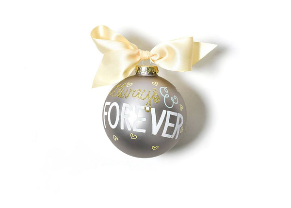 Always & Forever Glass Ornament