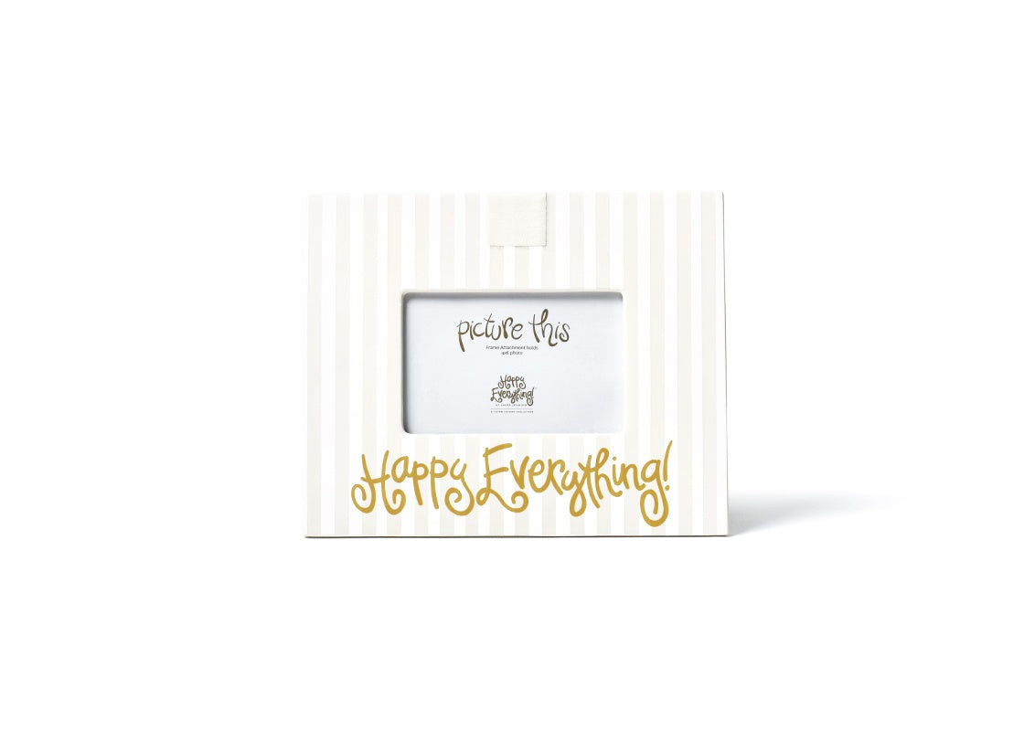 White Stripe Happy Everything!™ Mini Frame