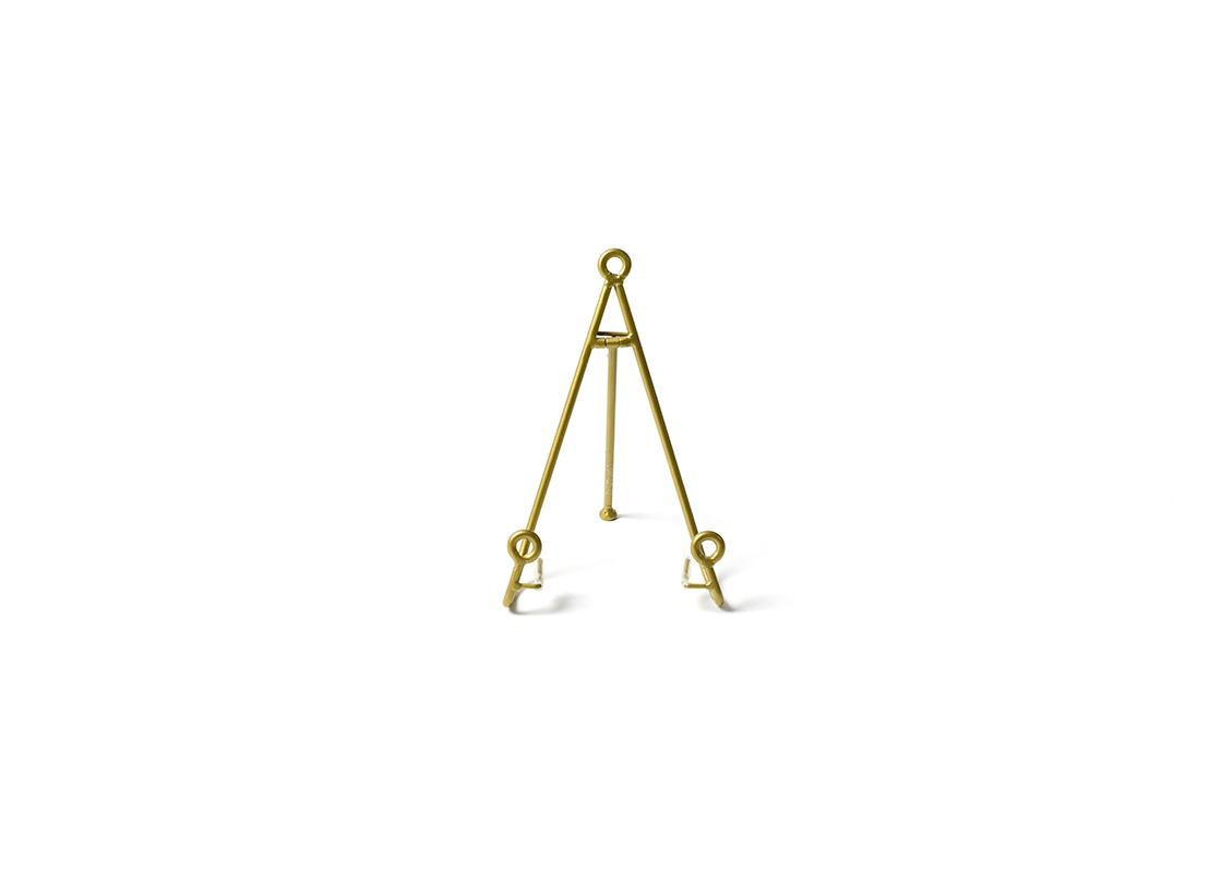 Gold Medium Loop Plate Stand