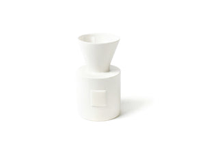 White Small Dot Mini Vase